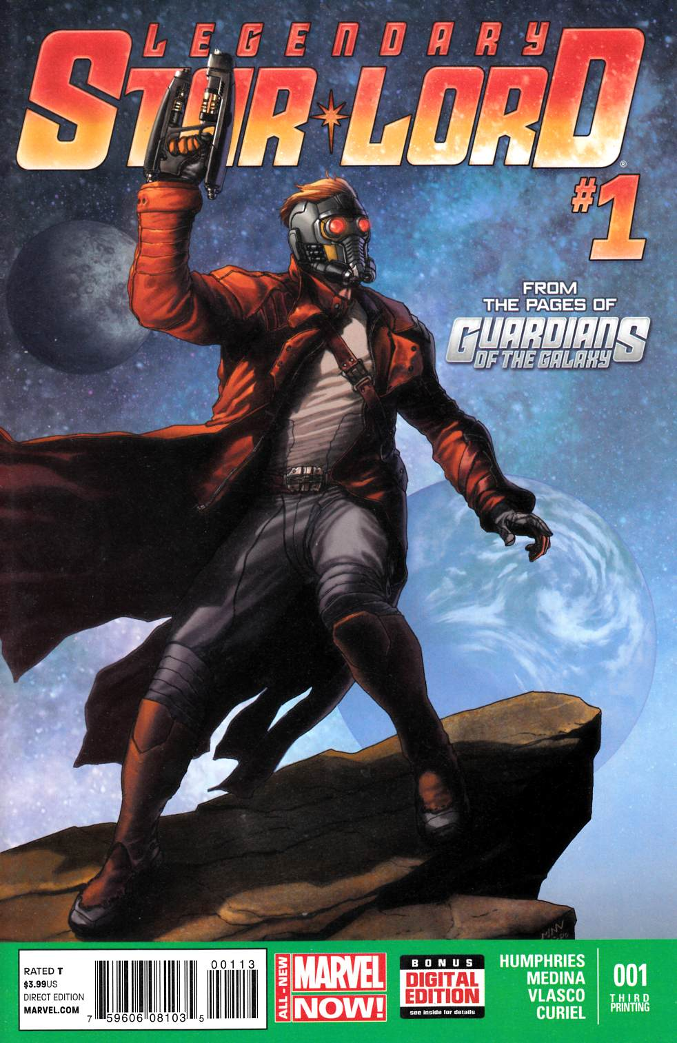 SDCC 2014 Exclusive Legendary Star Lord #1 Marvel Comics Young B/&W Variant Cover