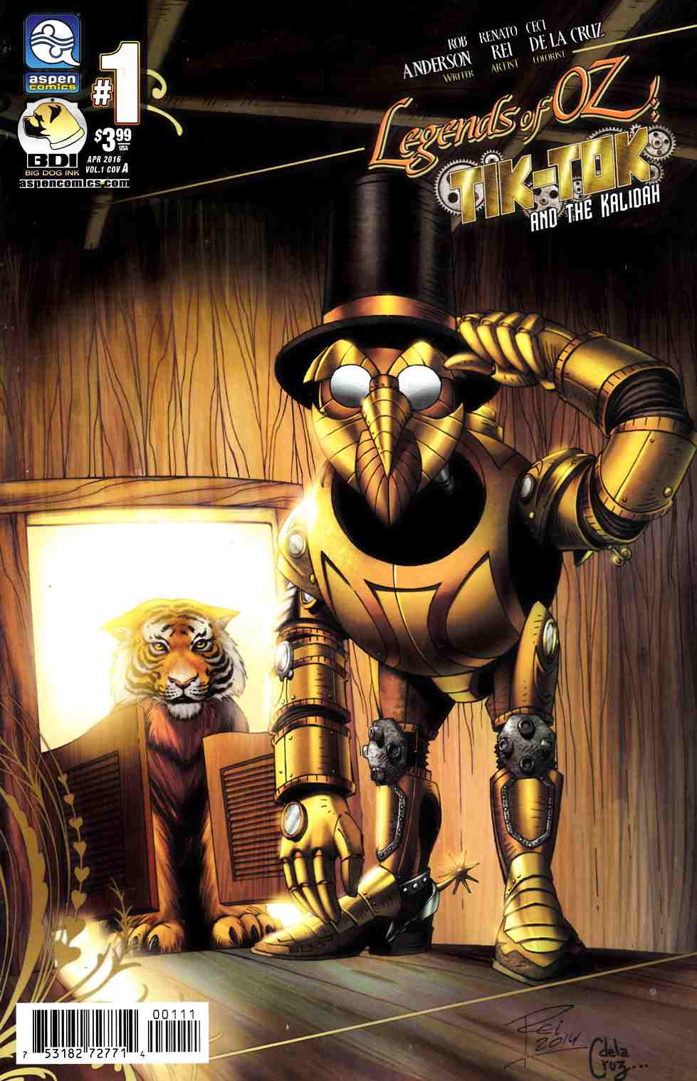 Legends Of Oz Tik Tok and Kalidah #1 Cover A [Aspen Comic] THUMBNAIL
