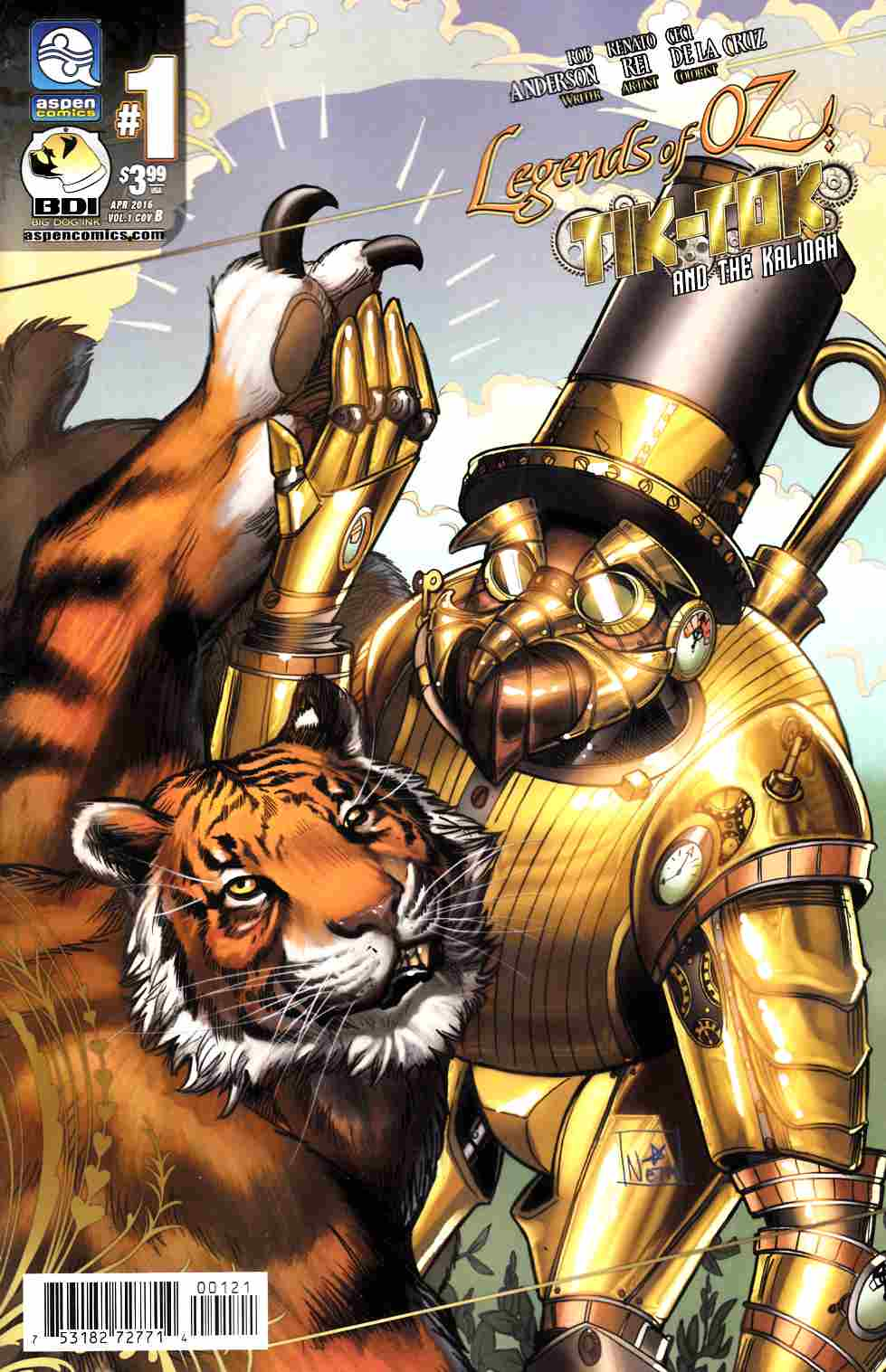Legends Of Oz Tik Tok and Kalidah #1 Cover B [Aspen Comic] THUMBNAIL