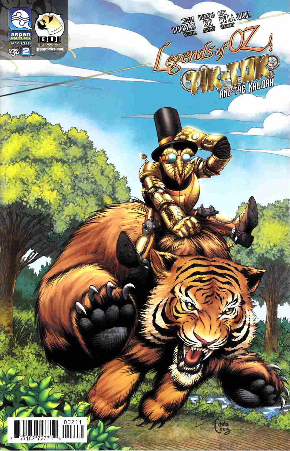 Legends Of Oz Tik Tok and Kalidah #2 Cover A [Aspen Comic] THUMBNAIL