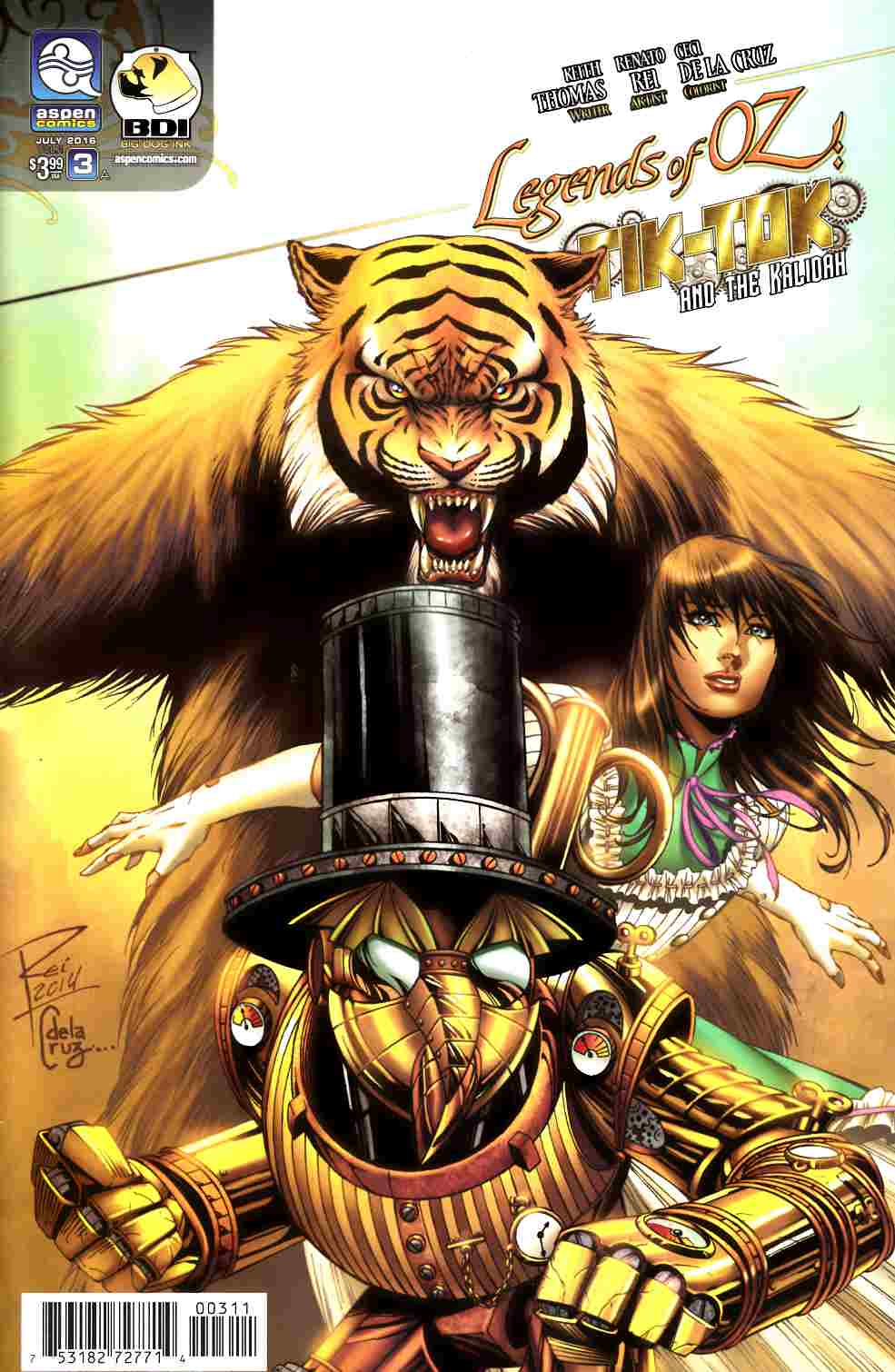 Legends of Oz Tik Tok and Kalidah #3 Cover A [Aspen Comic] THUMBNAIL
