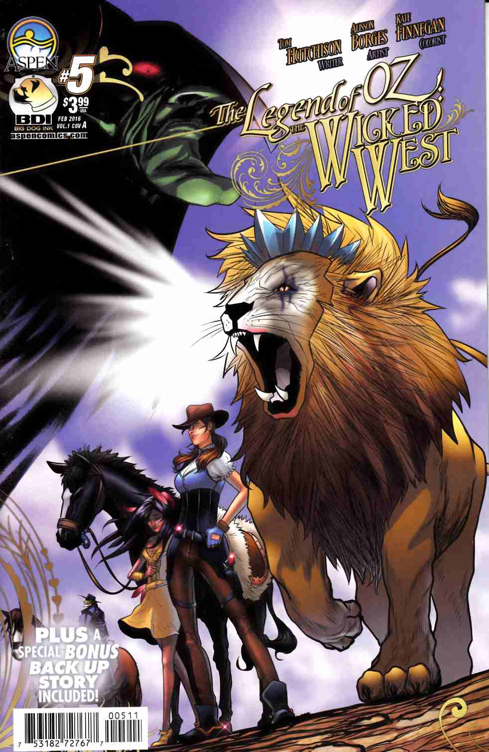 Legend of Oz Wicked West #5 Cover A- Borges [Aspen Comic] LARGE