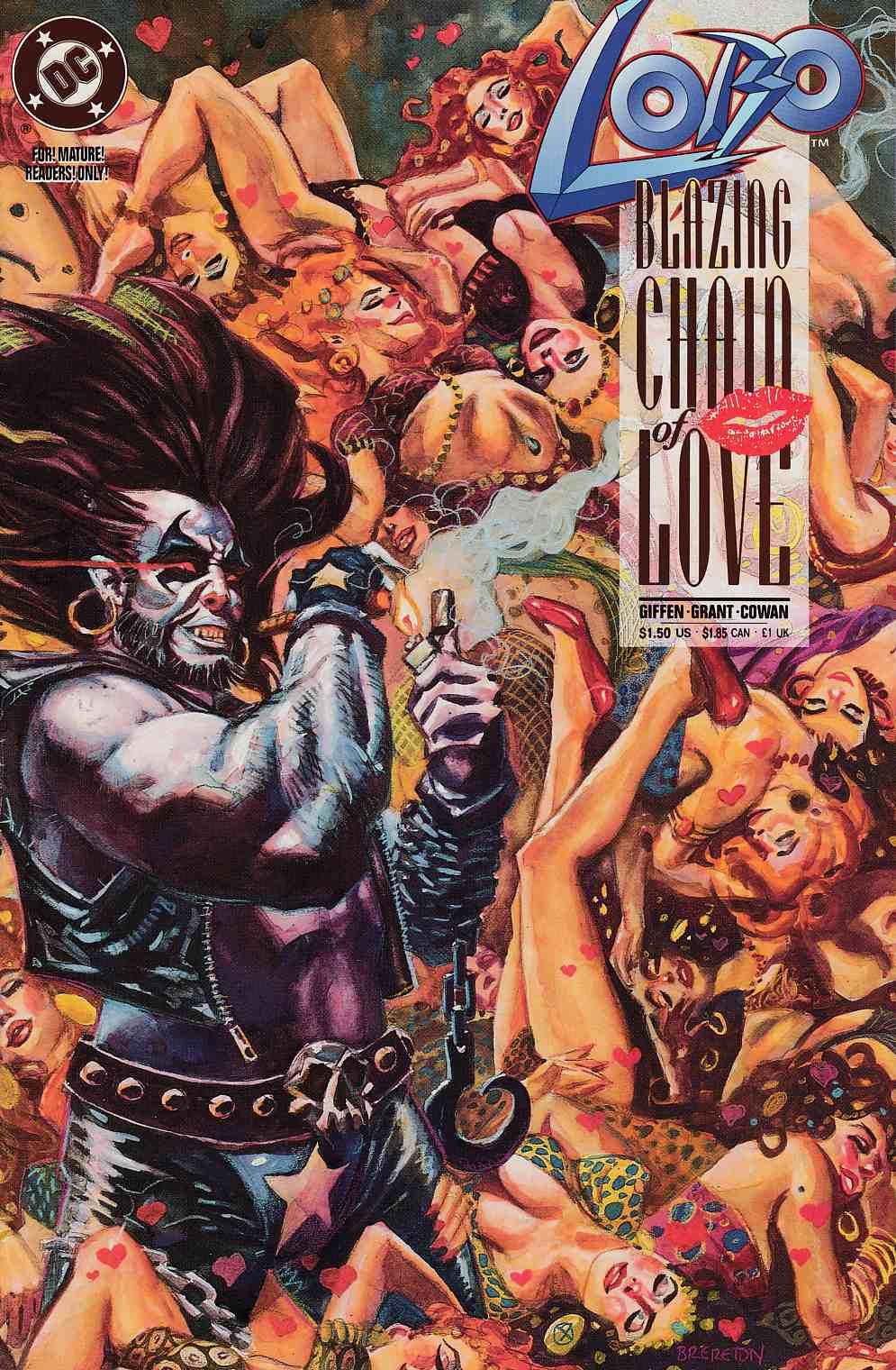 Lobo Blazing Chain of Love Giffen Grant Cowan #1 DC Comics September 1992 NM