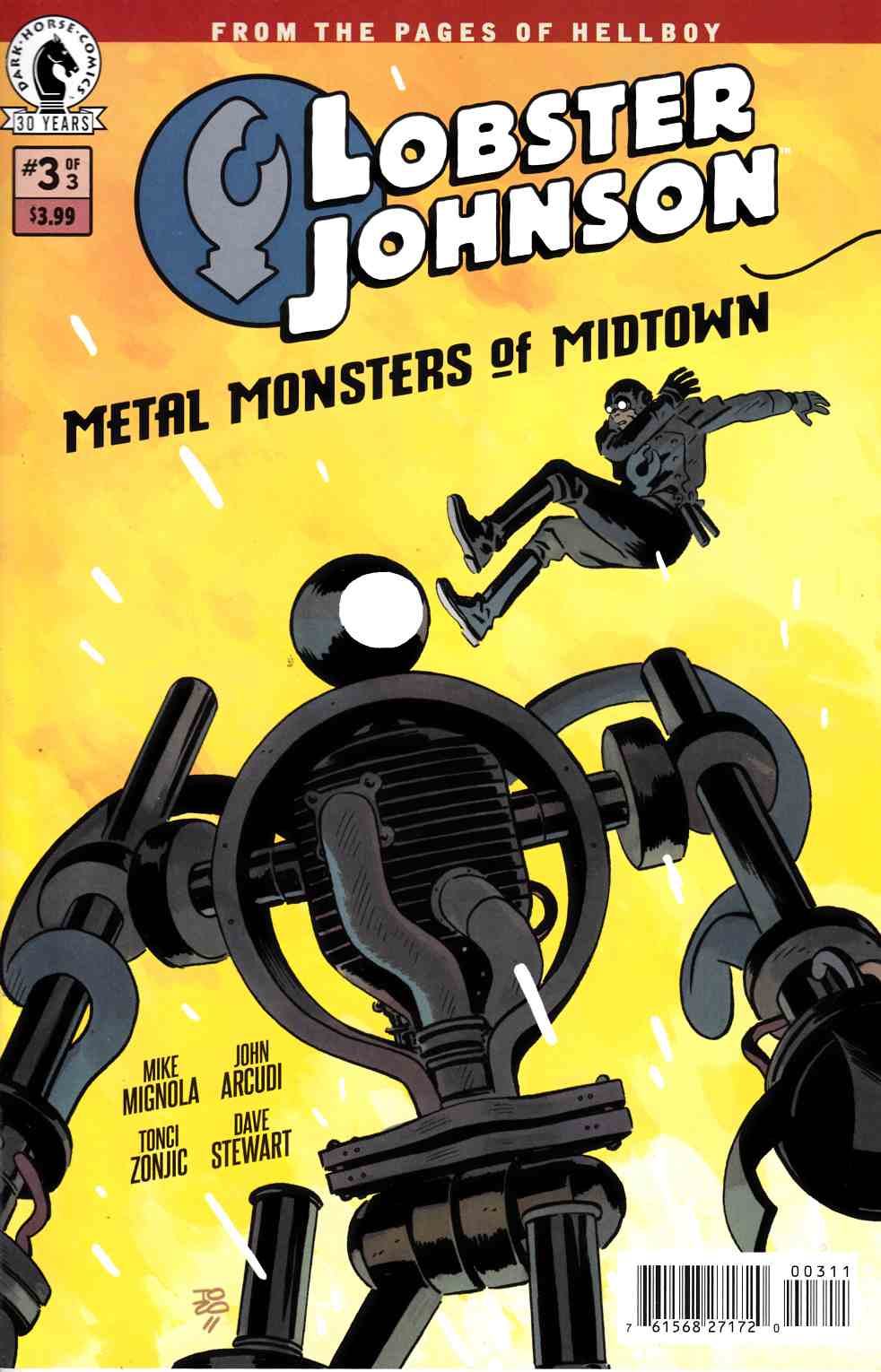 Lobster Johnson Metal Monsters of Midtown #3 [Dark Horse Comic] THUMBNAIL