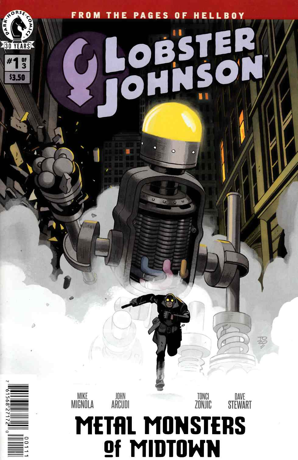 Lobster Johnson Metal Monsters of Midtown #1 [Dark Horse Comic] THUMBNAIL