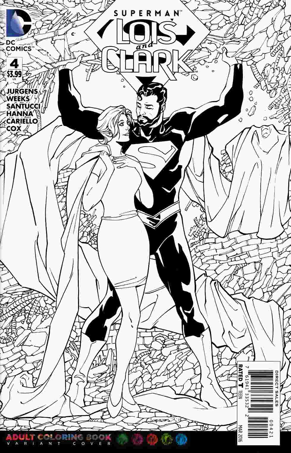Superman Lois and Clark #4 Adult Coloring Book Variant Cover [DC Comic]_THUMBNAIL