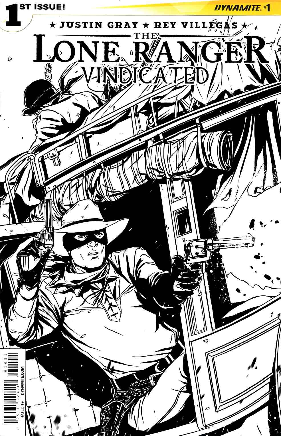 Lone Ranger Vindicated #1 Laming B&W Variant Cover [Dynamite Comic] THUMBNAIL