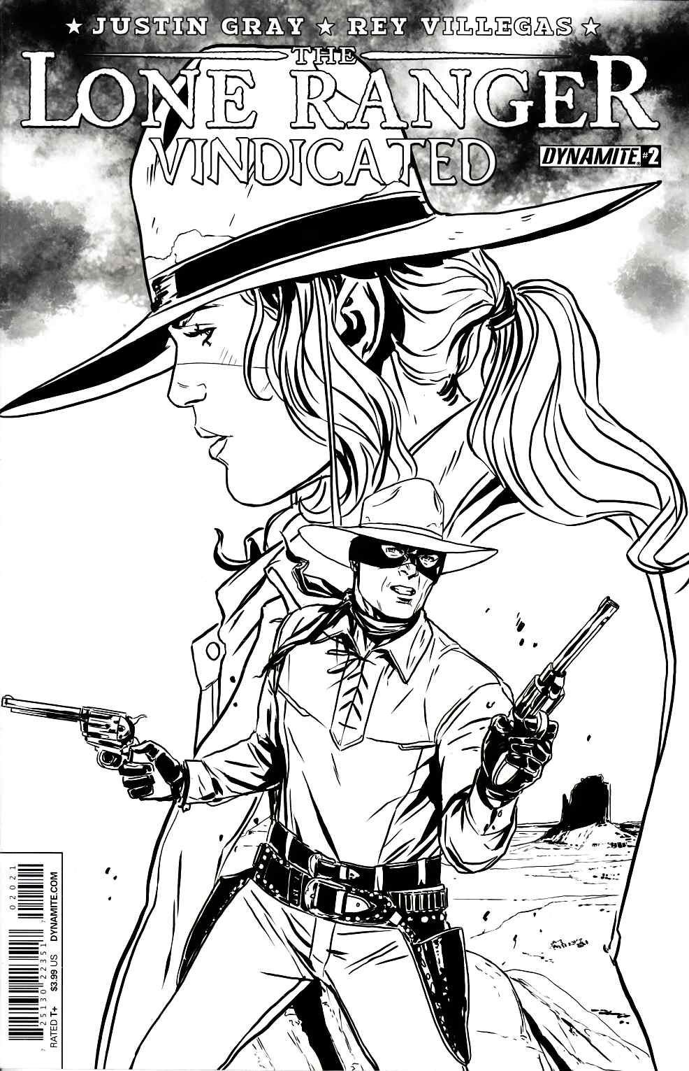 Lone Ranger Vindicated #2 Laming B&W Variant Cover [Dynamite Comic] THUMBNAIL
