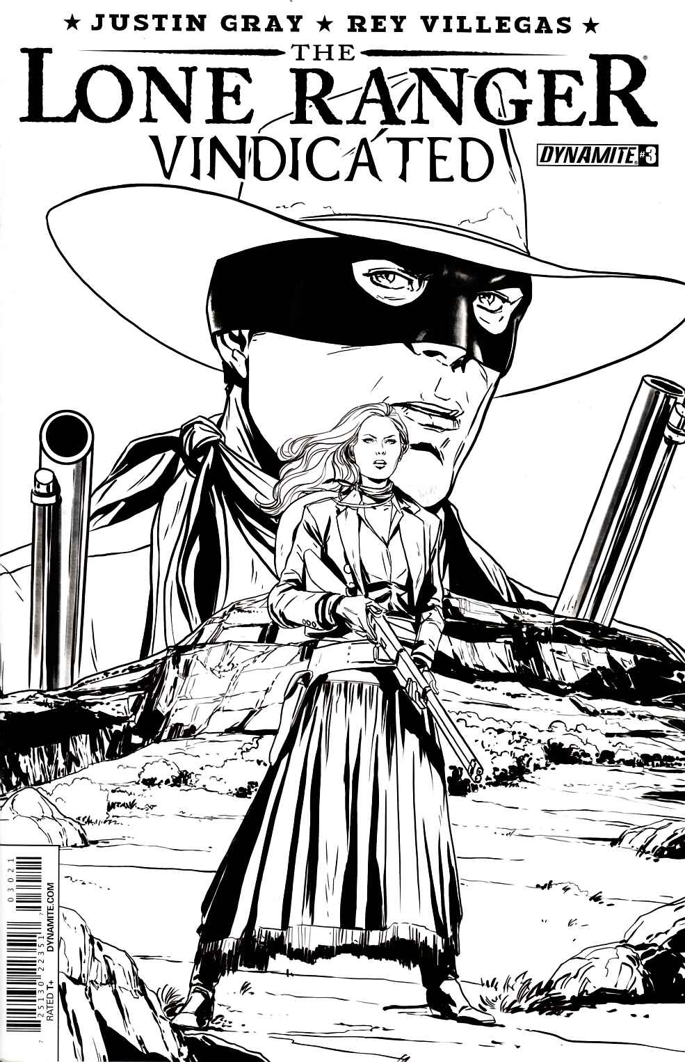 Lone Ranger Vindicated #3 Laming Variant Cover [Dynamite Comic]_THUMBNAIL