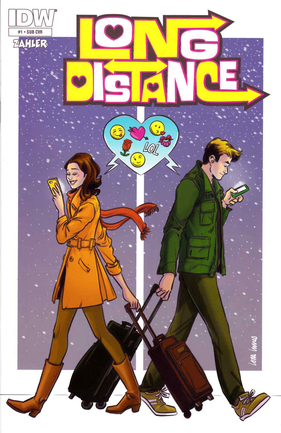 Long Distance #1 Subscription Cover [IDW Comic]