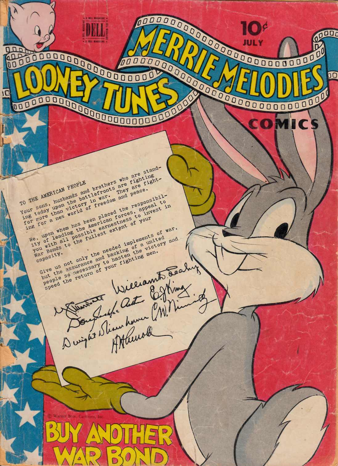 Looney Tunes Merrie Melodies #45 Good Minus (1.8) [Dell Comic] THUMBNAIL