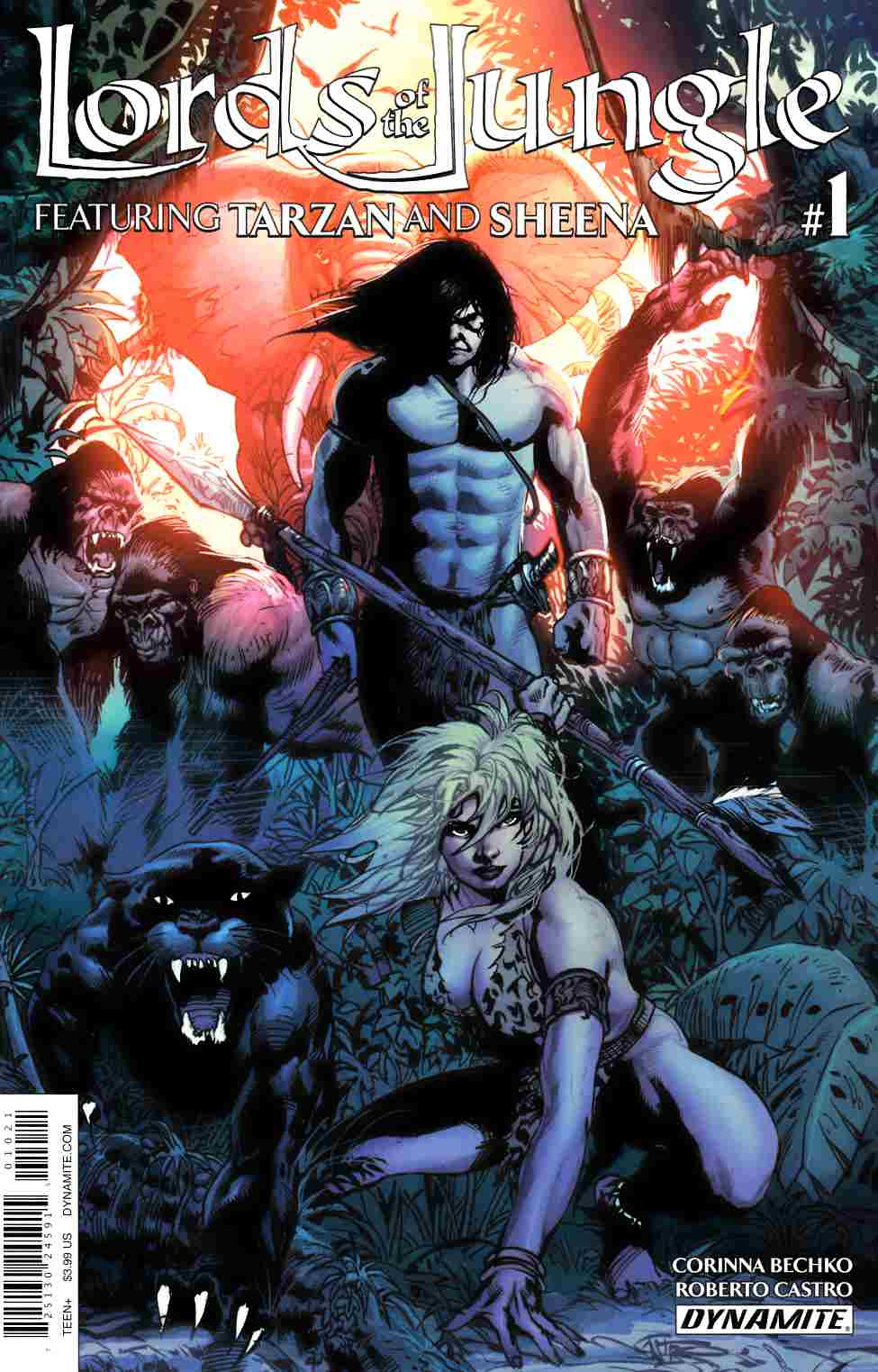Lords of the Jungle #1 Cover B- Castro [Dynamite Comic] THUMBNAIL