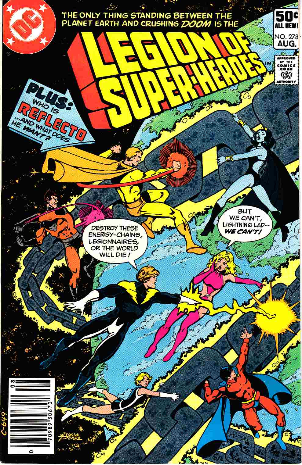 Legion of Super-Heroes #278 Newsstand Edition Very Fine (8.0) [DC Comic] THUMBNAIL