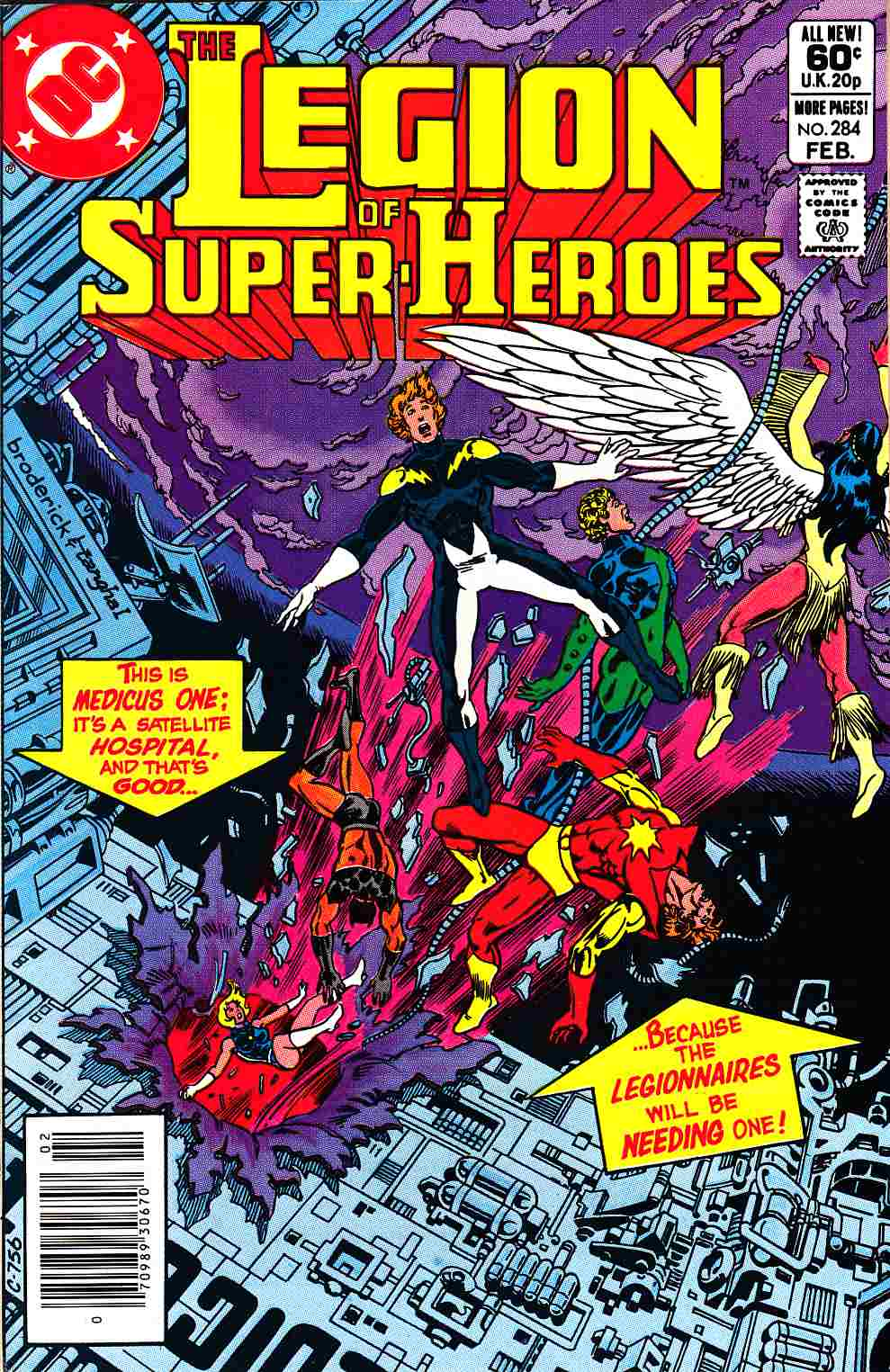 Legion of Super-Heroes #284 Newsstand Edition Near Mint (9.4) [DC Comic] THUMBNAIL