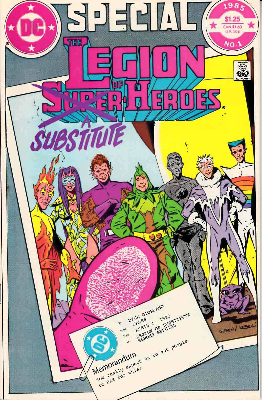 Legion of Substitute-Heroes Special #1 Very Fine Minus (7.5) [DC Comic] THUMBNAIL