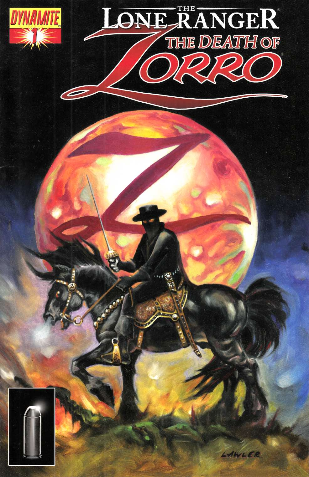 Lone Ranger Death of Zorro #1 Lawler Cover Very Fine (8.0) [Dynamite Comic] THUMBNAIL