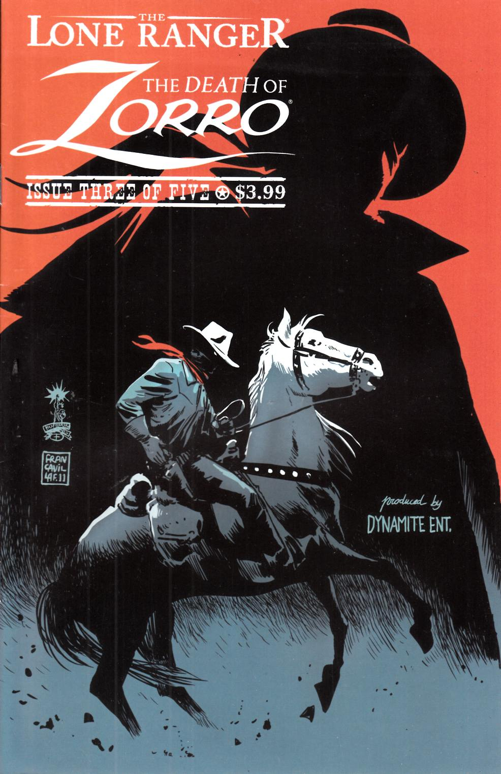 Lone Ranger Death of Zorro #3 Very Fine (8.0) [Dynamite Comic] THUMBNAIL