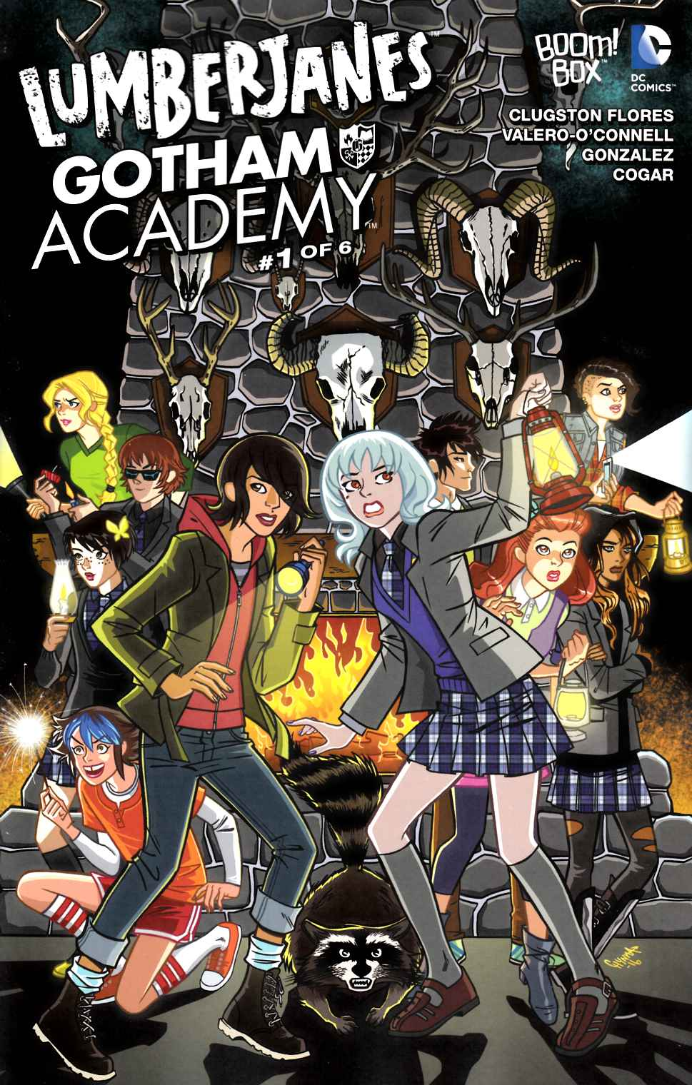 Lumberjanes Gotham Academy #1 Unlock Clugston Flores Variant Cover [Boom Comic] THUMBNAIL
