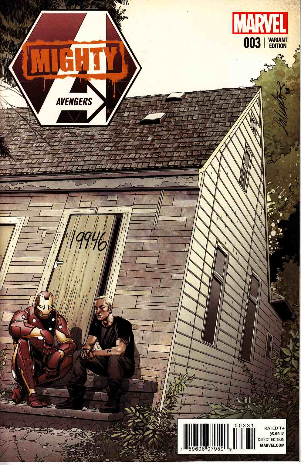 Mighty Avengers #3 Larroca Eminem Variant Cover (INF) [Marvel Comic]