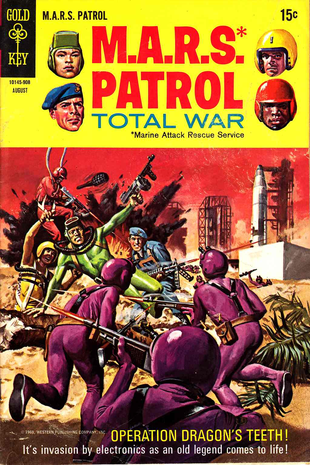 Mars Patrol Total War #10 Very Good (4.0) [Gold Key Comic] LARGE