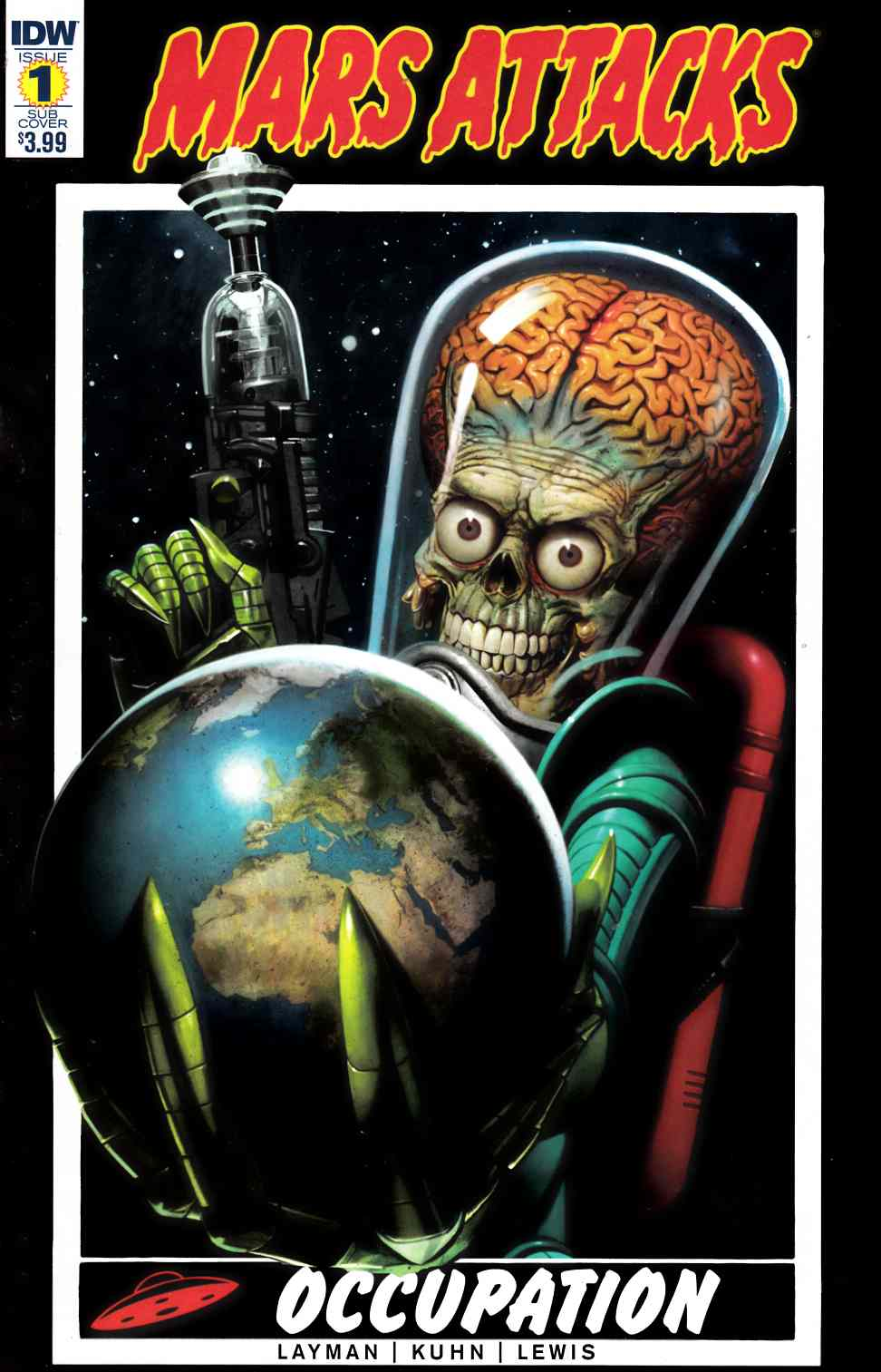 Mars Attacks Occupation #1 Subscription Cover [IDW Comic] THUMBNAIL