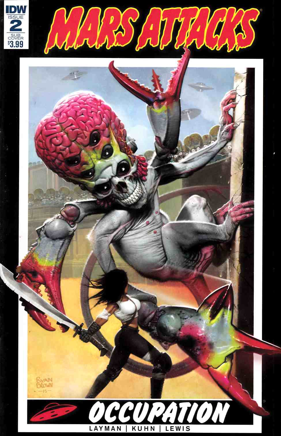 Mars Attacks Occupation #2 Subscription Cover [IDW Comic] THUMBNAIL