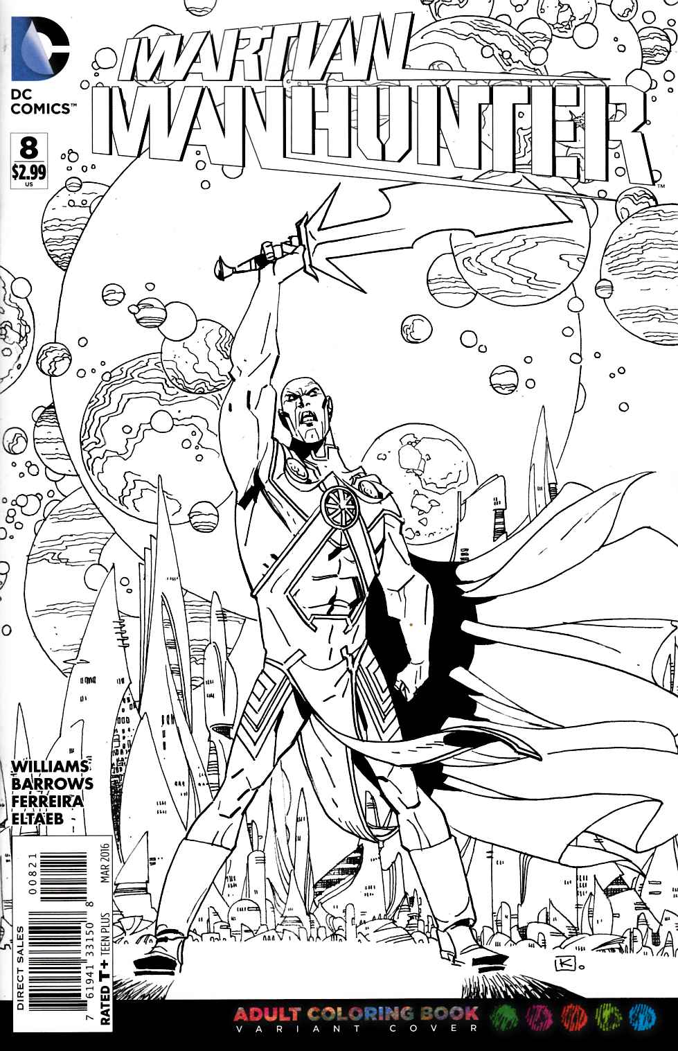 Martian Manhunter #8 Adult Coloring Book Variant Cover [DC Comic] THUMBNAIL