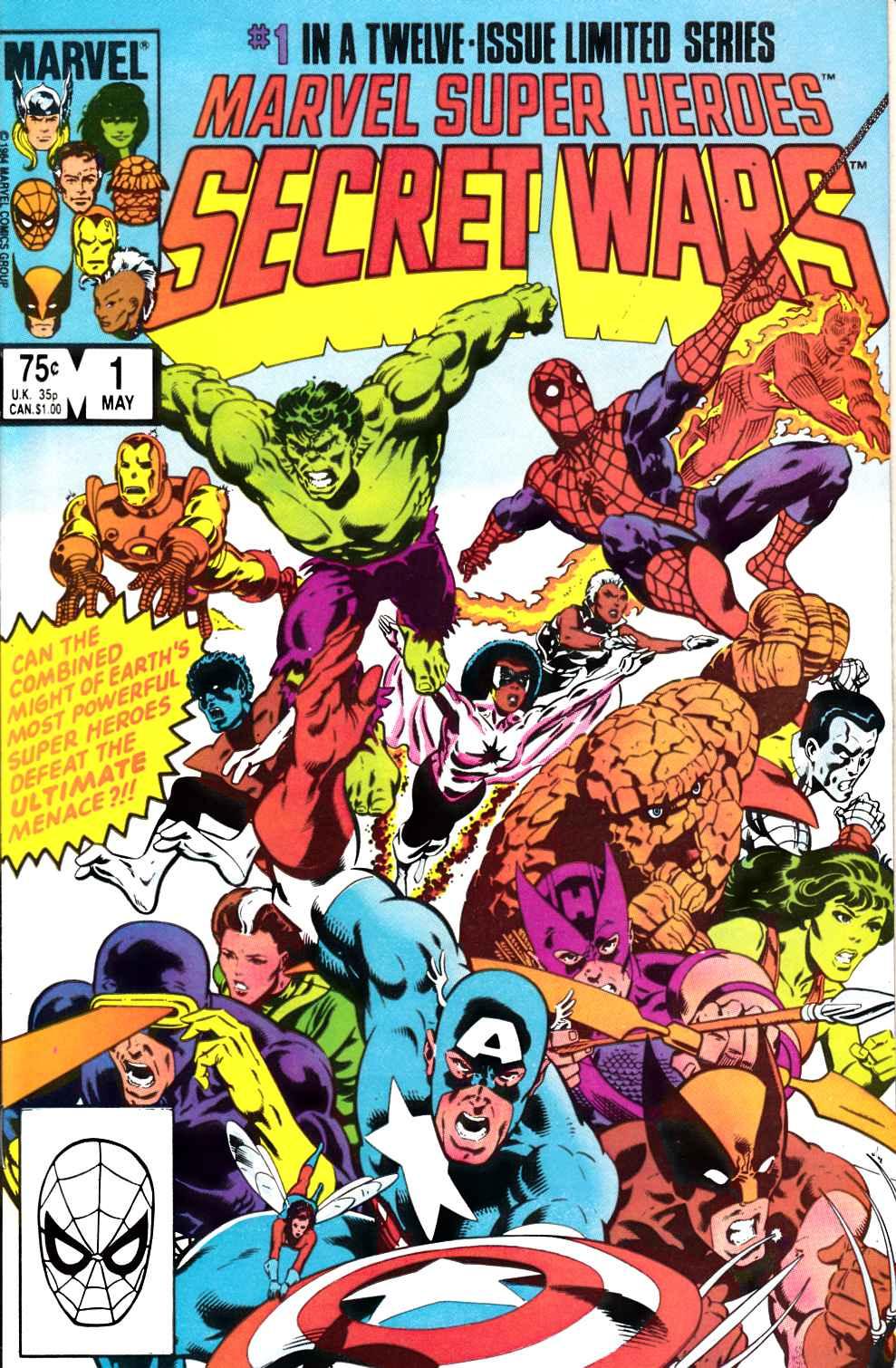 Marvel Super Heroes Secret Wars #1 Marvel 1984 Series Mike Zeck 9.2 Near Mint
