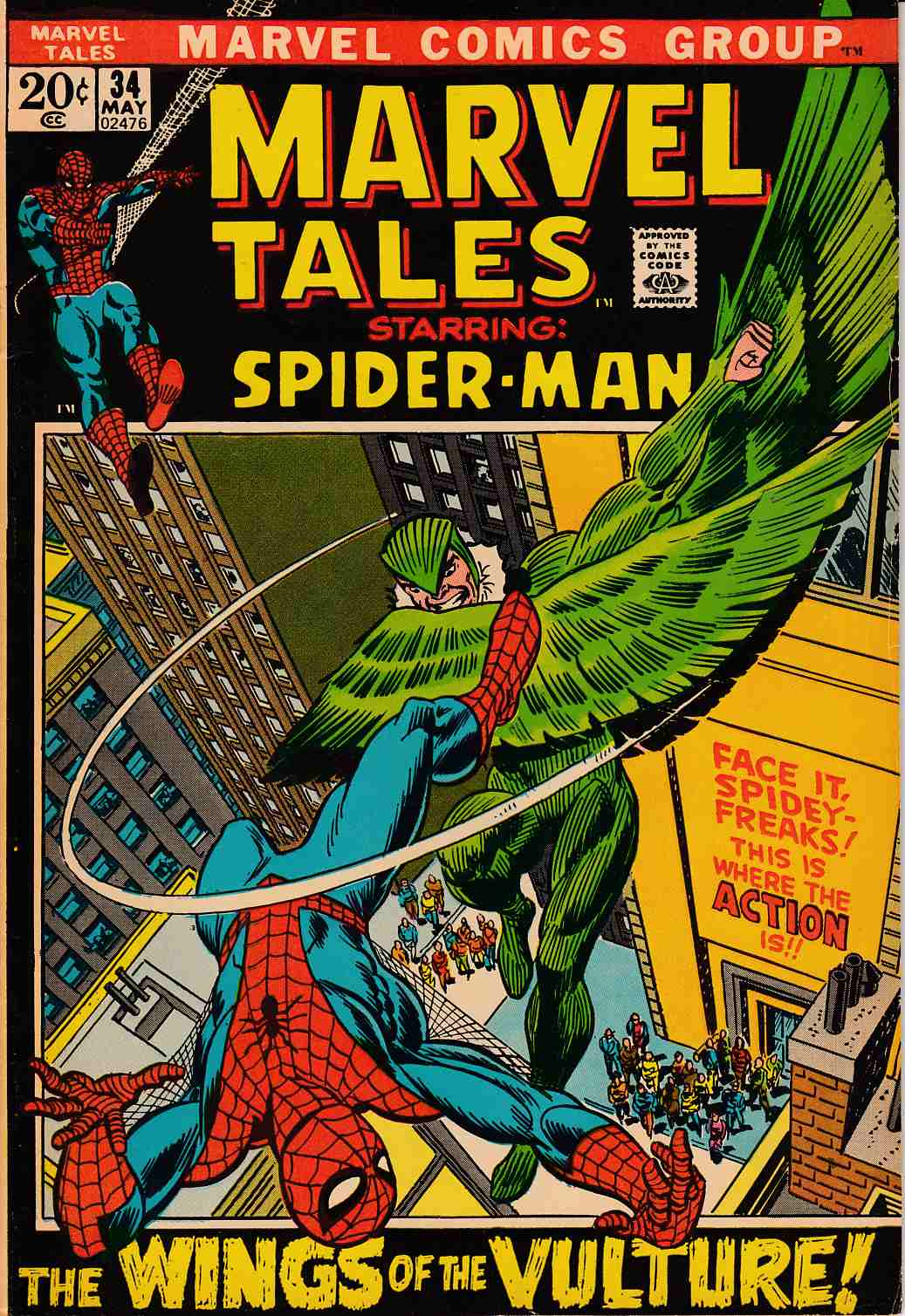 Marvel Tales #34 Fine (6.0) [Marvel Comic] LARGE
