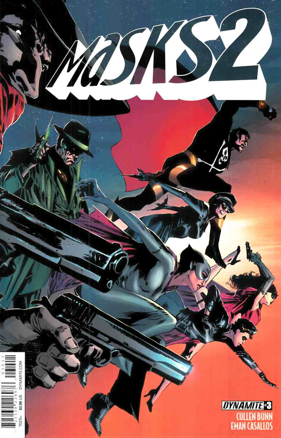 Masks 2 #3 Cover A- Guice [Dynamite Comic] THUMBNAIL