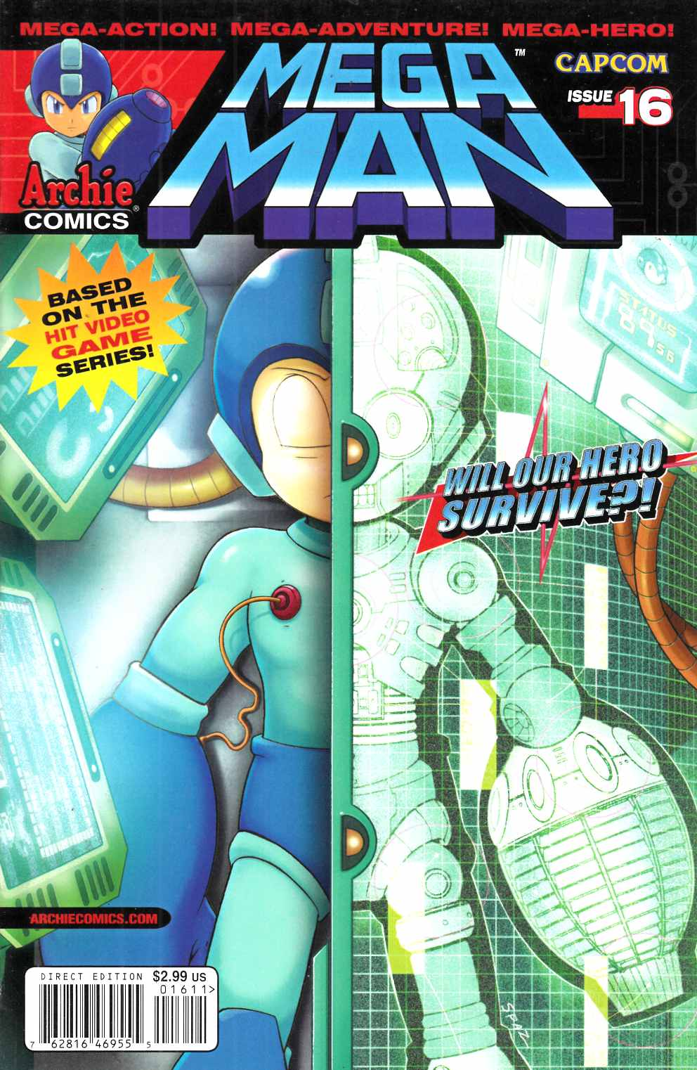 Mega Man #16 Near Mint (9.4) [Archie Comic] THUMBNAIL