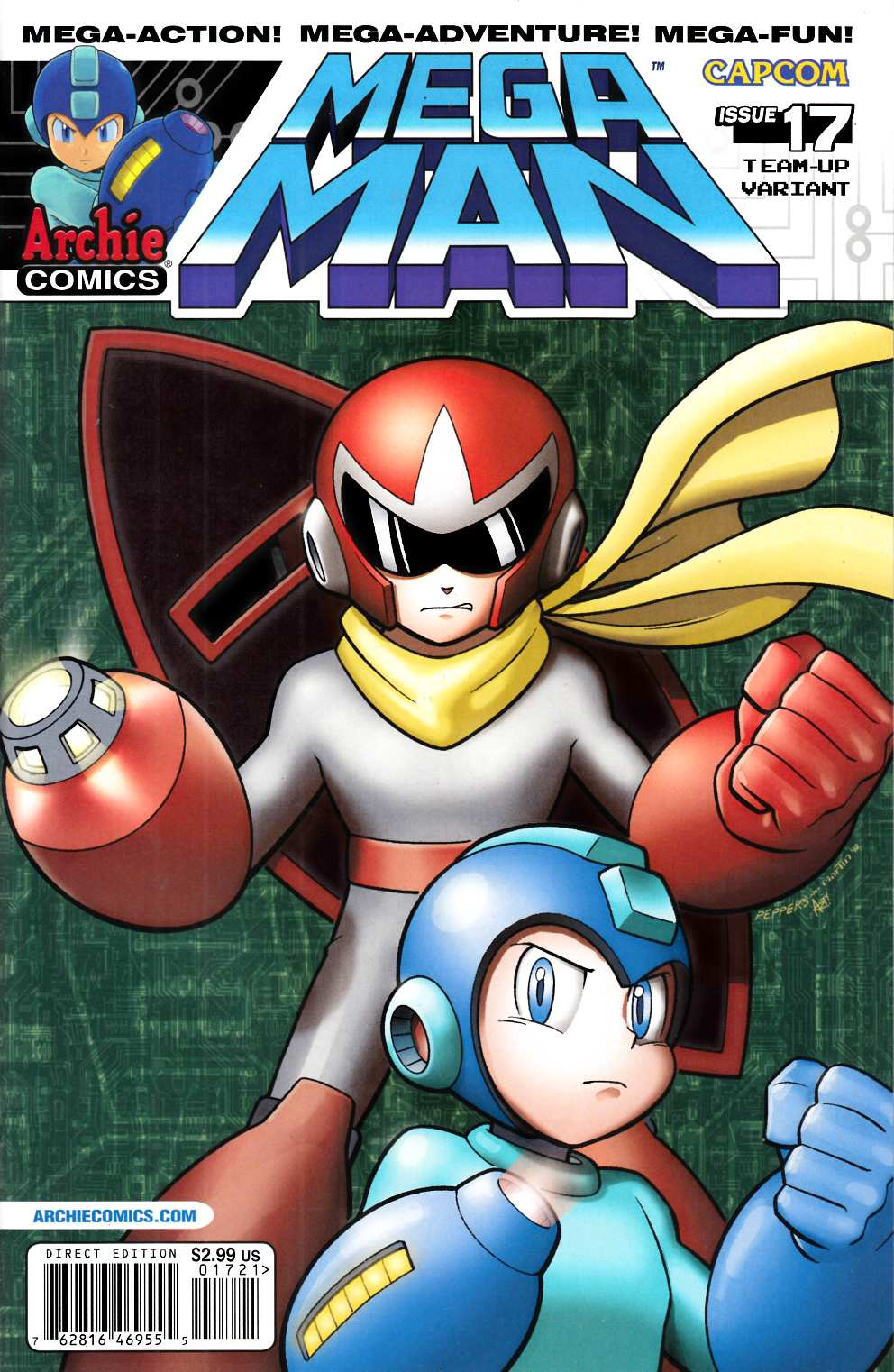 Mega Man #17 Team Up Variant Cover Near Mint (9.4) [Archie Comic] THUMBNAIL