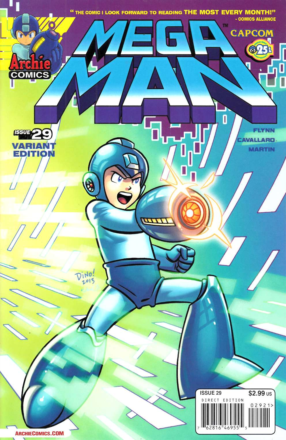 Mega Man #29 Haspiel Variant Cover Near Mint (9.4) [Archie Comic] THUMBNAIL