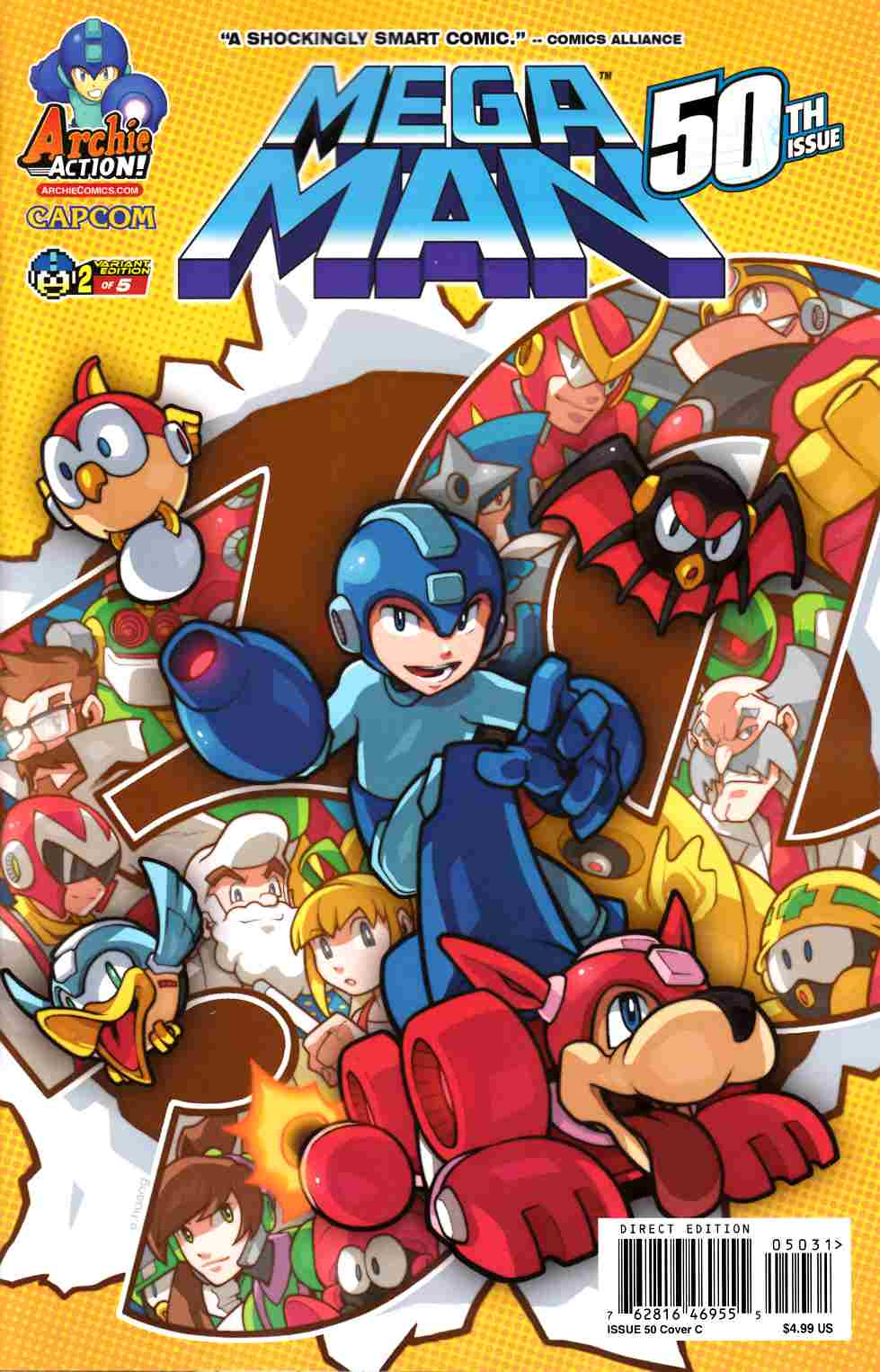 Mega Man #50 Huang Variant Cover Very Fine (8.0) [Archie Comic] THUMBNAIL