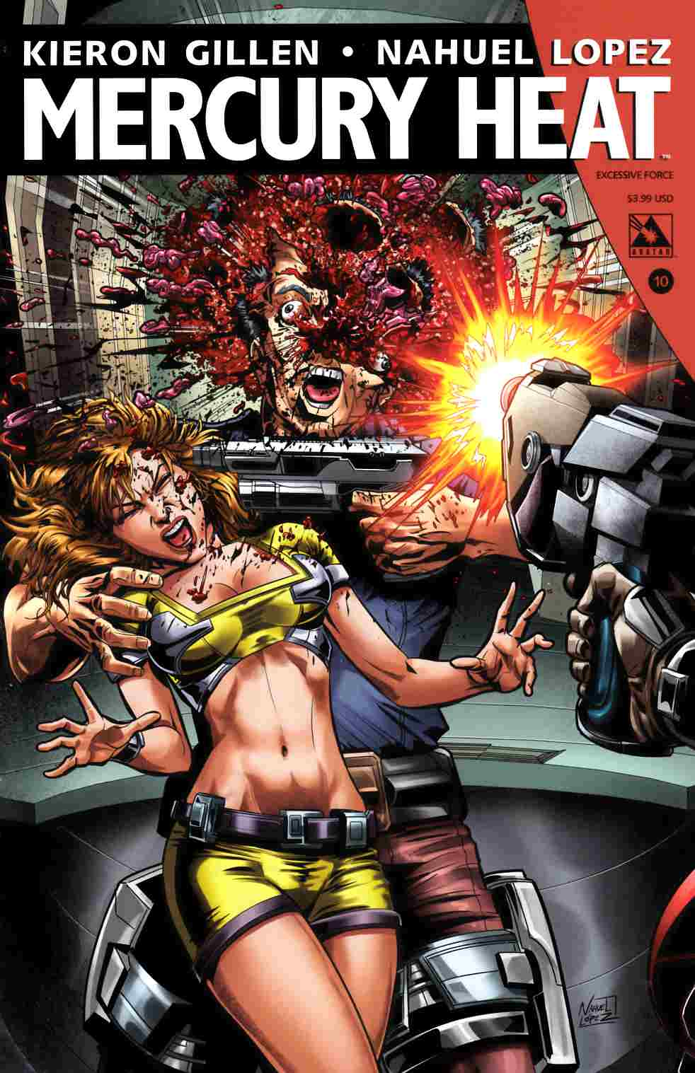 Mercury Heat #10 Excessive Force Cover [Avatar Comic] LARGE