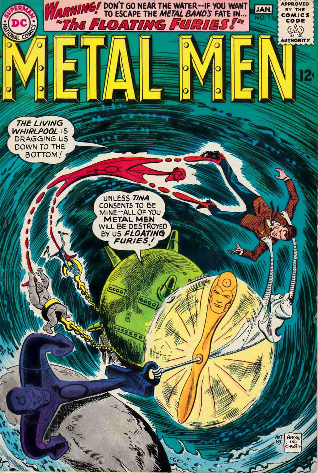 Metal Men #11 Very Good/Fine (5.0) [DC Comic] THUMBNAIL