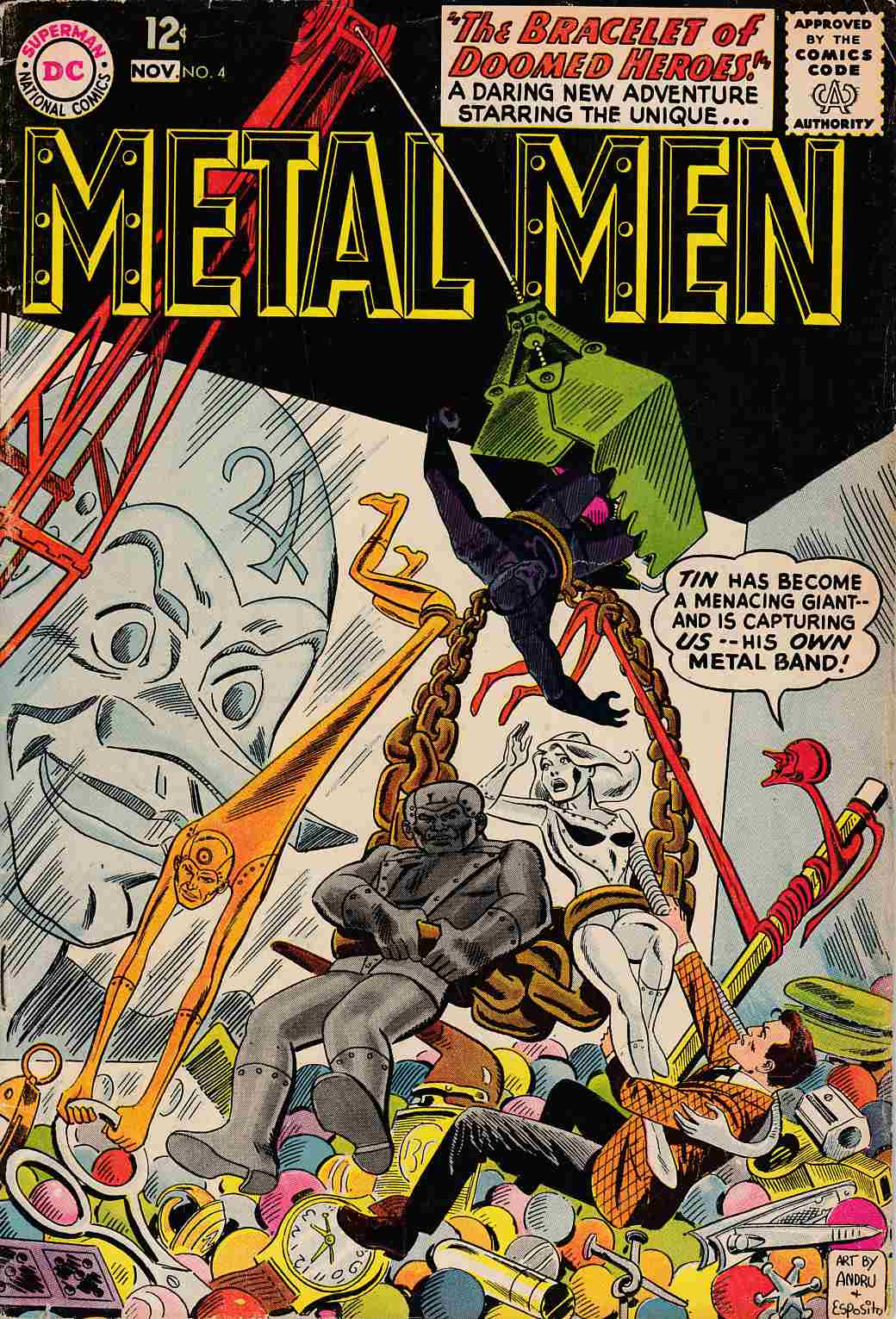 Metal Men #4 Very Good (4.0) [DC Comic] THUMBNAIL