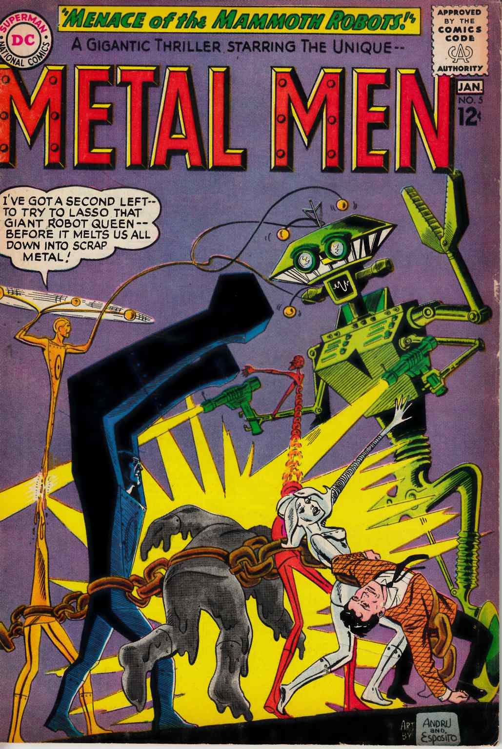 Metal Men #5 Good Plus (2.5) [DC Comic] THUMBNAIL