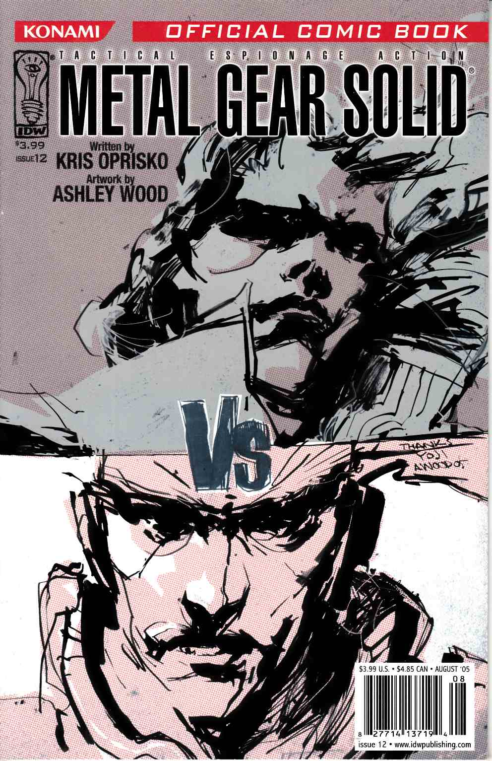 Metal Gear Solid #12 Very Fine (8.0) [IDW Comic] THUMBNAIL