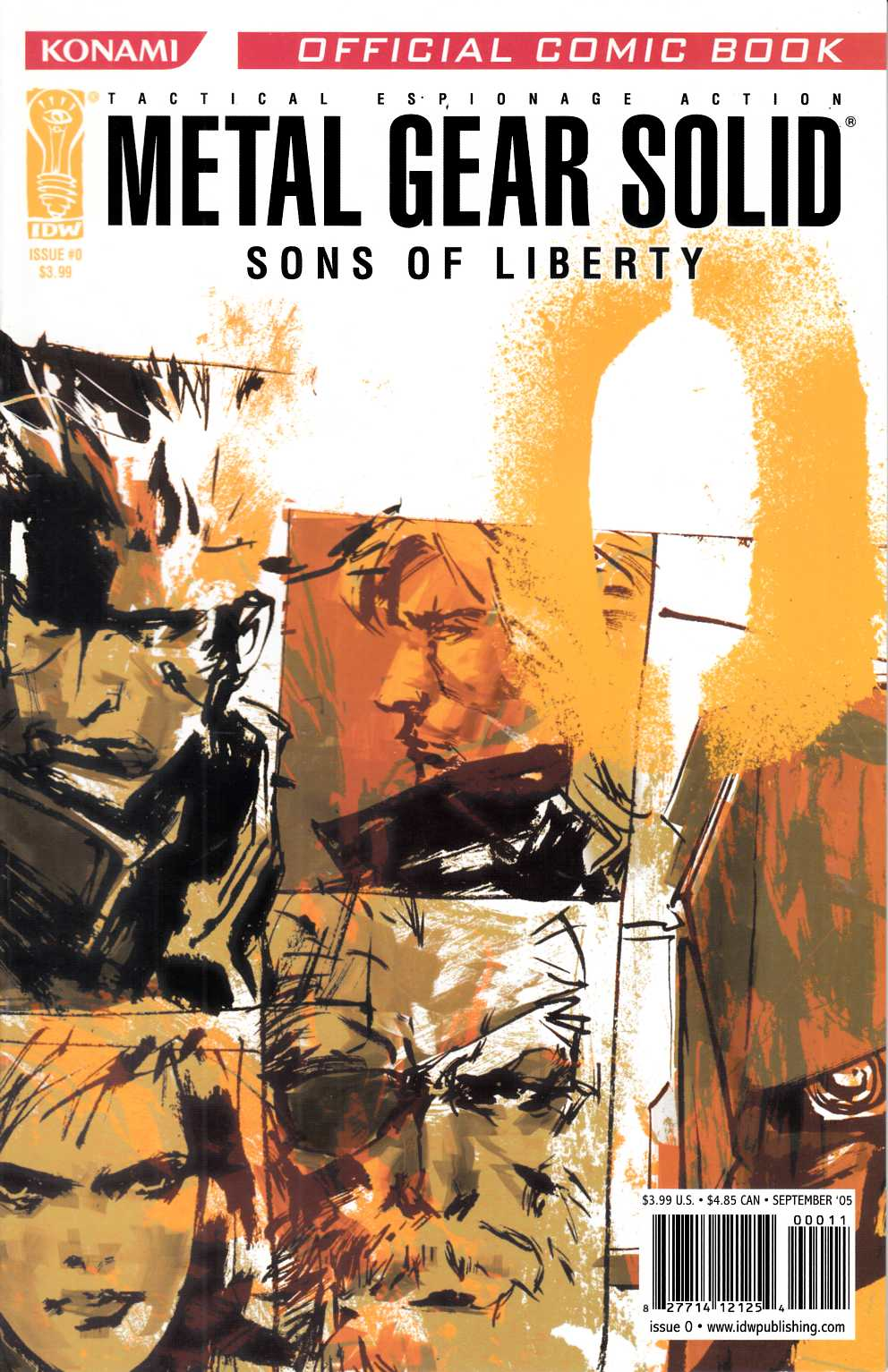 Metal Gear Solid Sons of Liberty #0 Near Mint (9.4) [IDW Comic] THUMBNAIL