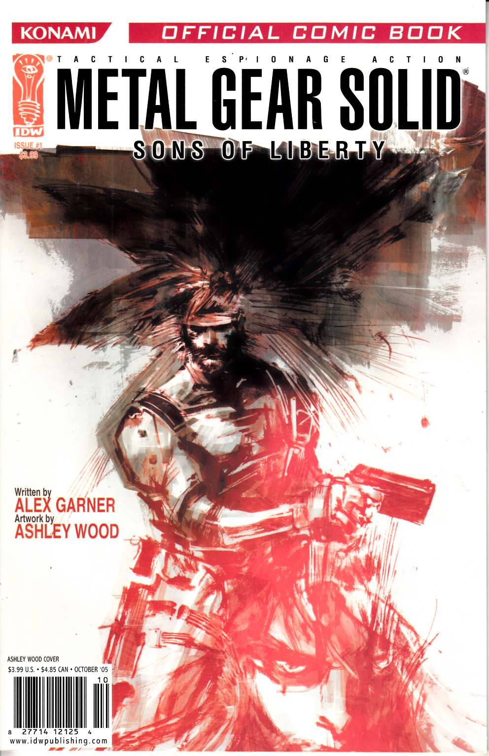 Metal Gear Solid Sons of Liberty #1 Wood Cover Near Mint Minus (9.2) [IDW Comic] THUMBNAIL