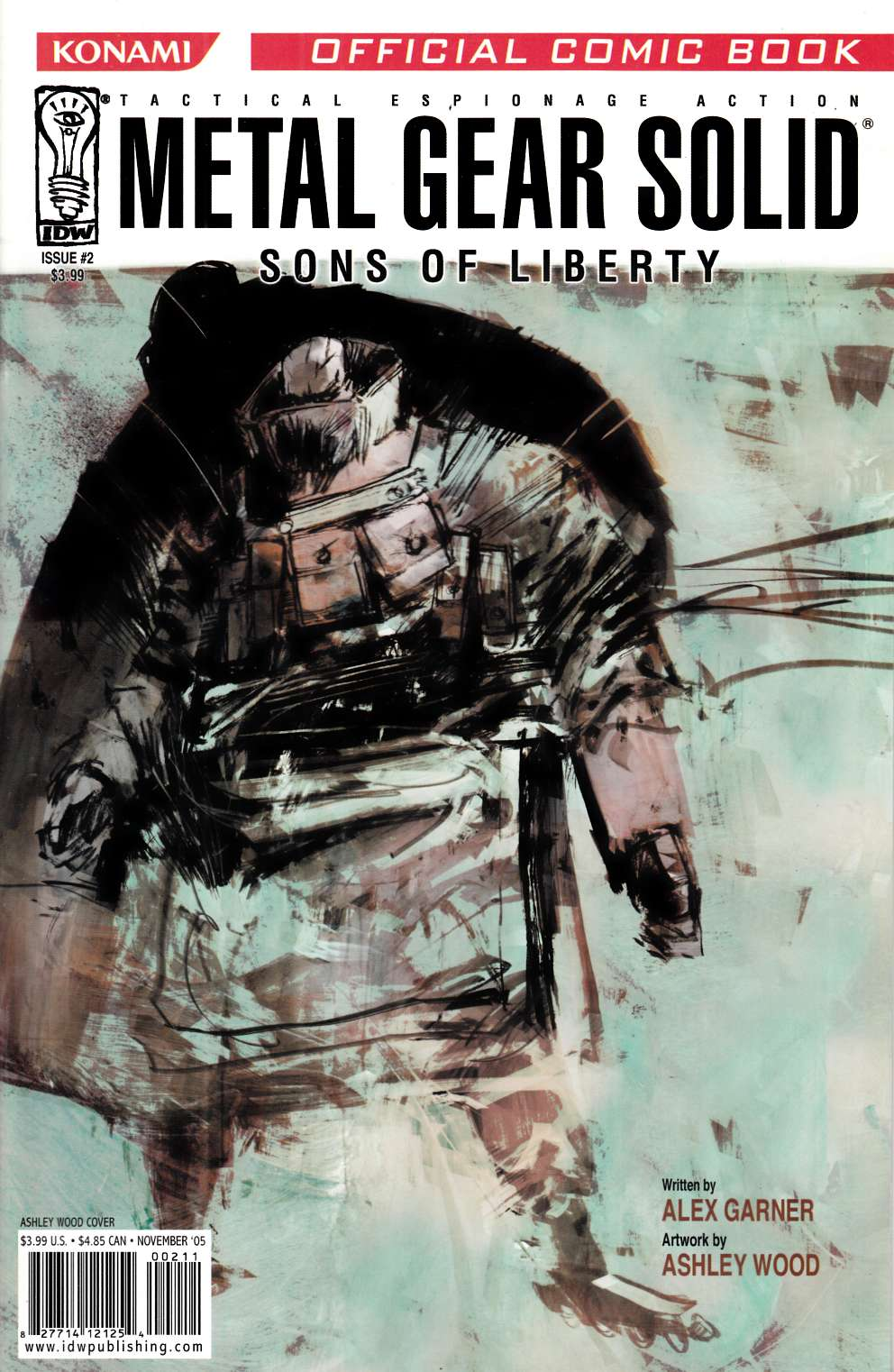Metal Gear Solid Sons of Liberty #2 Cover B Near Mint (9.4) [IDW Comic] THUMBNAIL