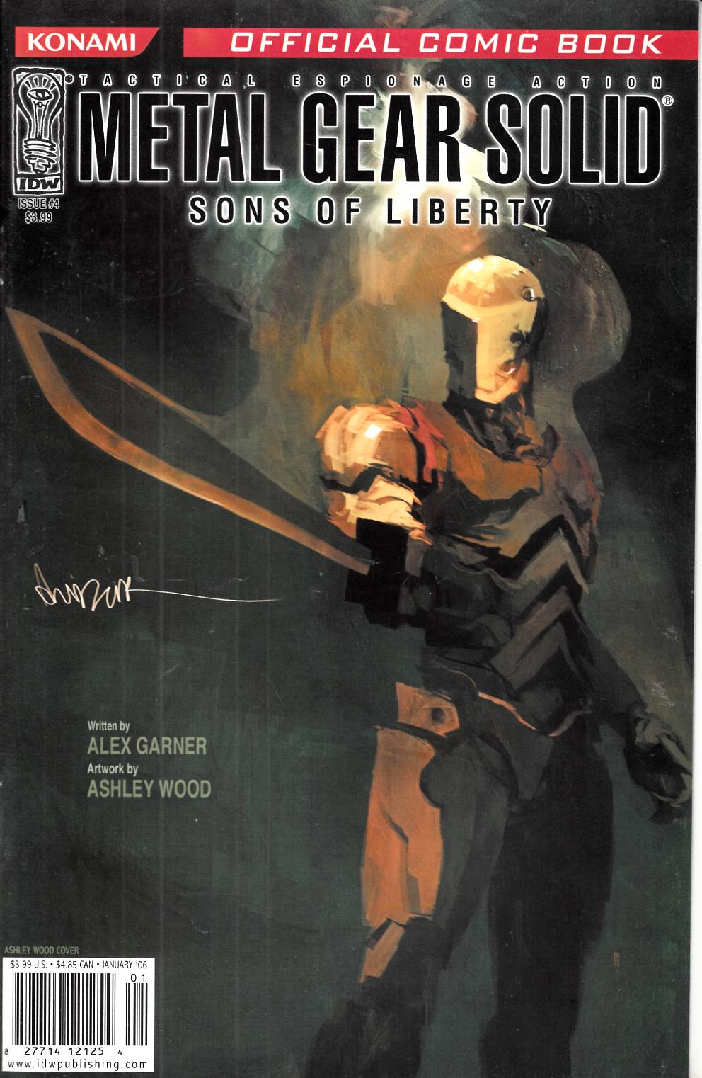 Metal Gear Solid Sons of Liberty #4 Cover B Near Mint (9.4) [IDW Comic] THUMBNAIL