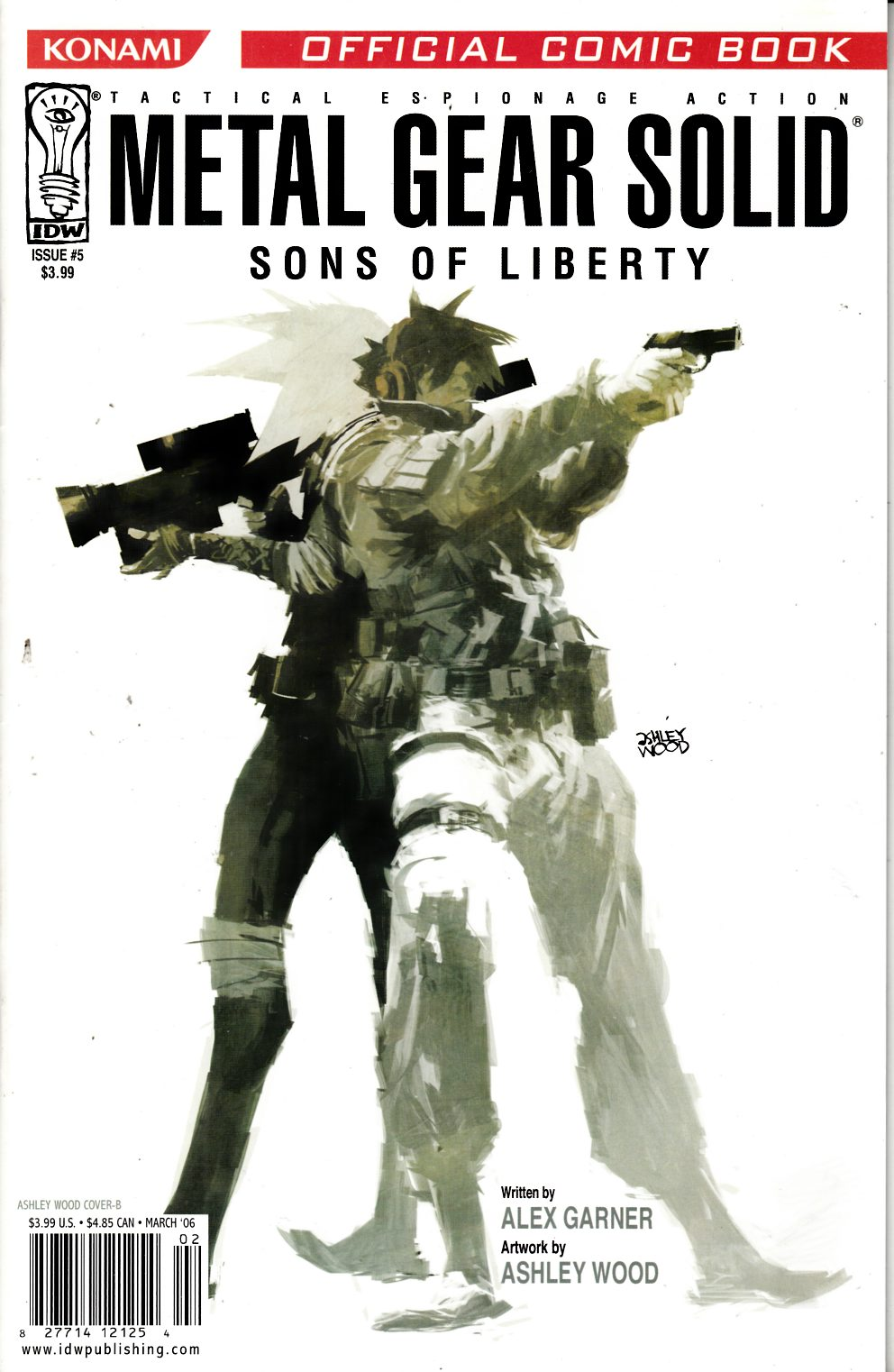 Metal Gear Solid Sons of Liberty #5 Cover B Very Fine (8.0) [IDW Comic] THUMBNAIL