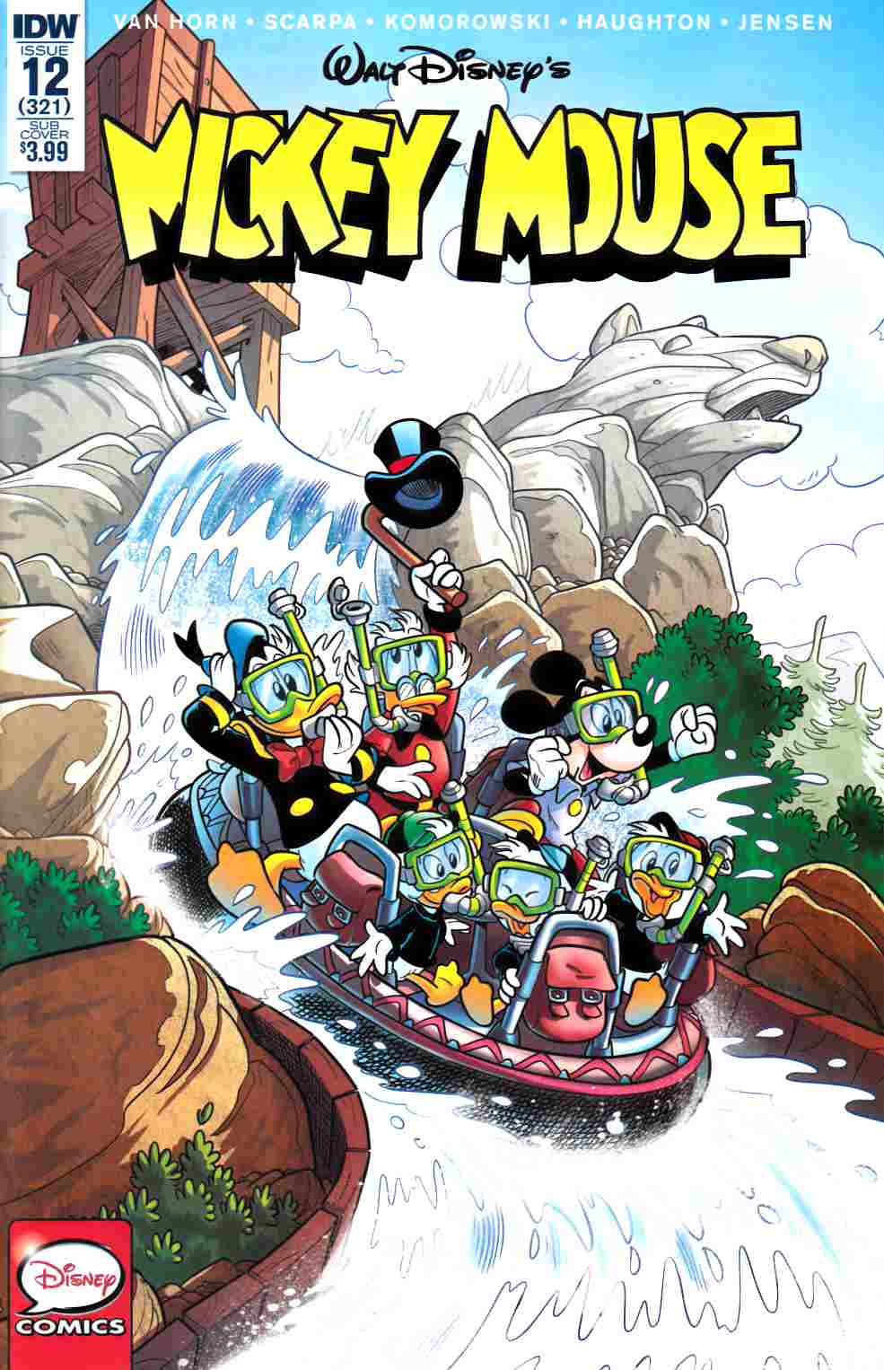 Mickey Mouse #12 Subscription Cover [IDW Comic] LARGE