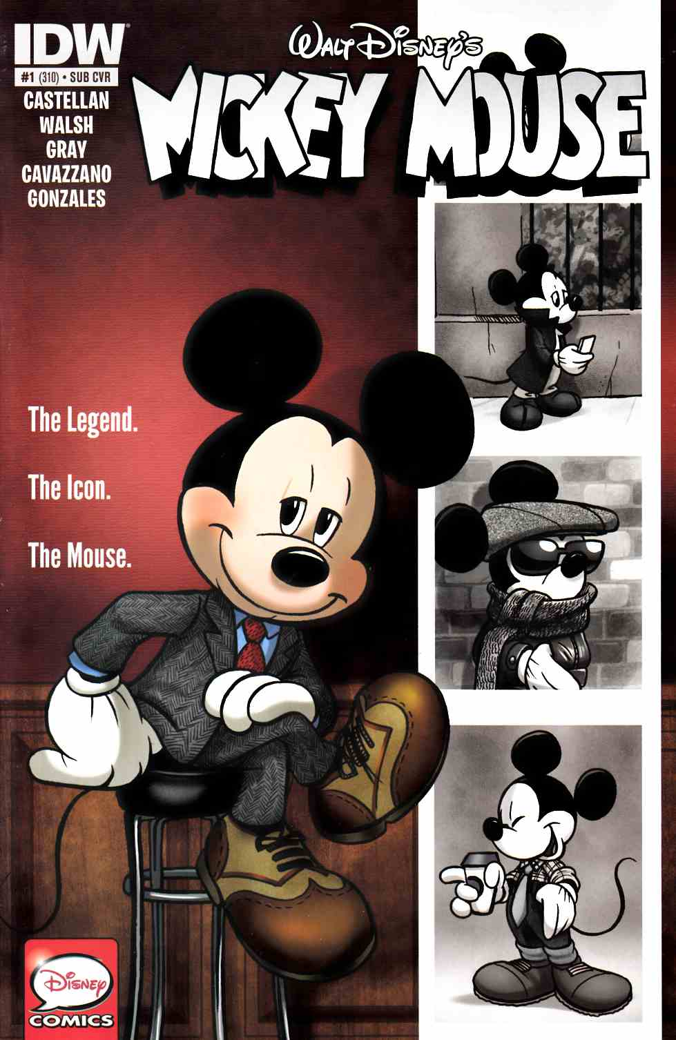 Mickey Mouse #1 Subscription Cover [IDW Comic] THUMBNAIL