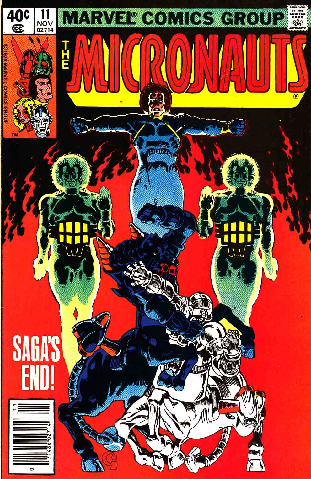 Micronauts #11 Newsstand Edition [Marvel Comic] LARGE
