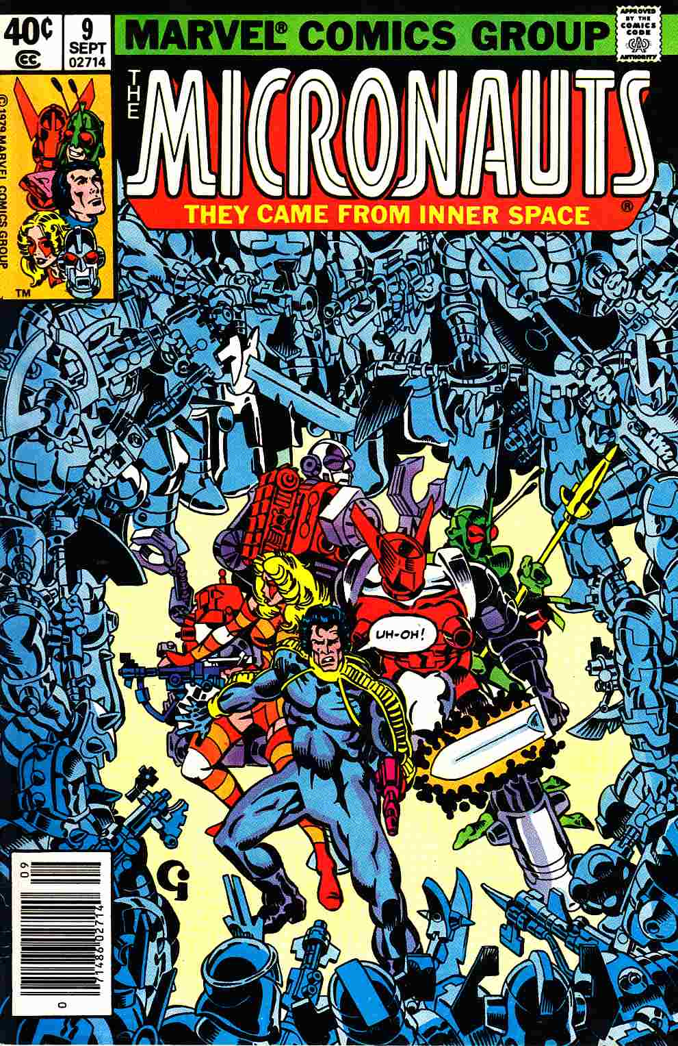 Micronauts #9 Newsstand Edition [Marvel Comic] LARGE