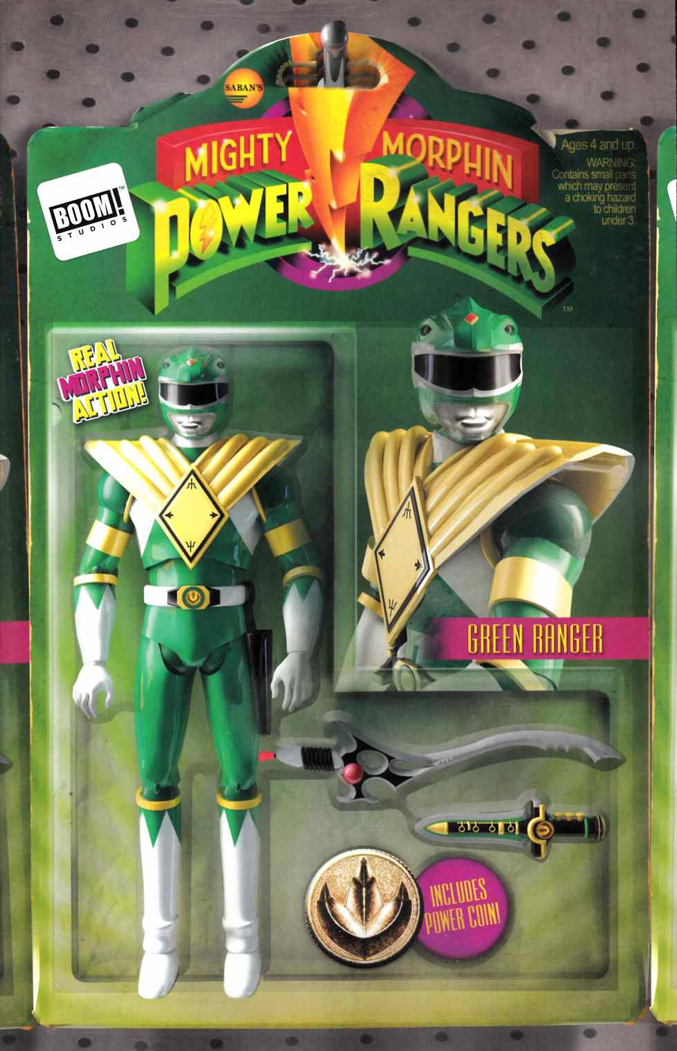 Mighty Morphin Power Rangers #1 Unlock Action Figure Variant Cover [Boom Comic]