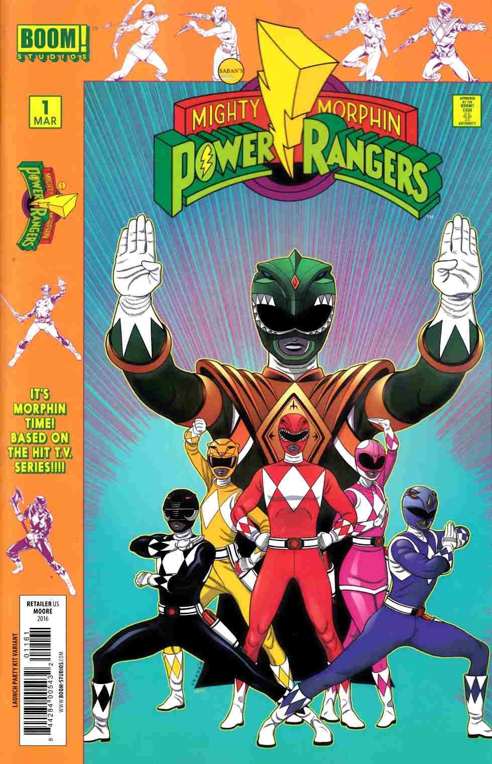 Mighty Morphin Power Rangers #1 Launch Party Variant Cover [Boom Comic]